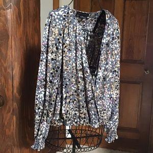 Sanctuary faux wrap blouse Medium